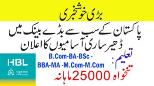 HBL Cash Officer Jobs 2019 For Male / Female | 200 Vacancies